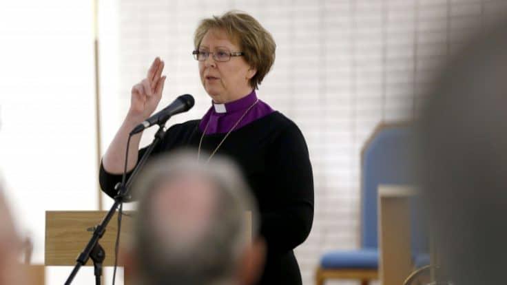Bishop of Iceland Agnes M. Sigurðardóttir.