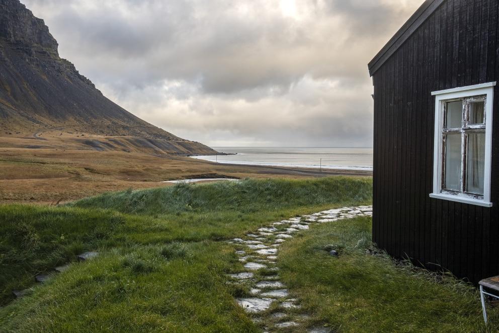 Fífustaðadalsá river by Arnarfjörður fjord.