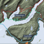 Different proposals for a new road in the South Westfjords.