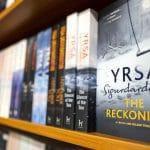 Books by Yrsa Sigurðardóttir on a shelf.