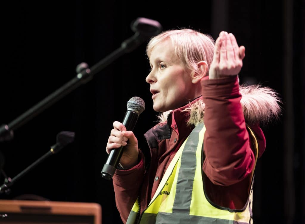 Efling chairperson Sólveig Anna Jónsdóttir.