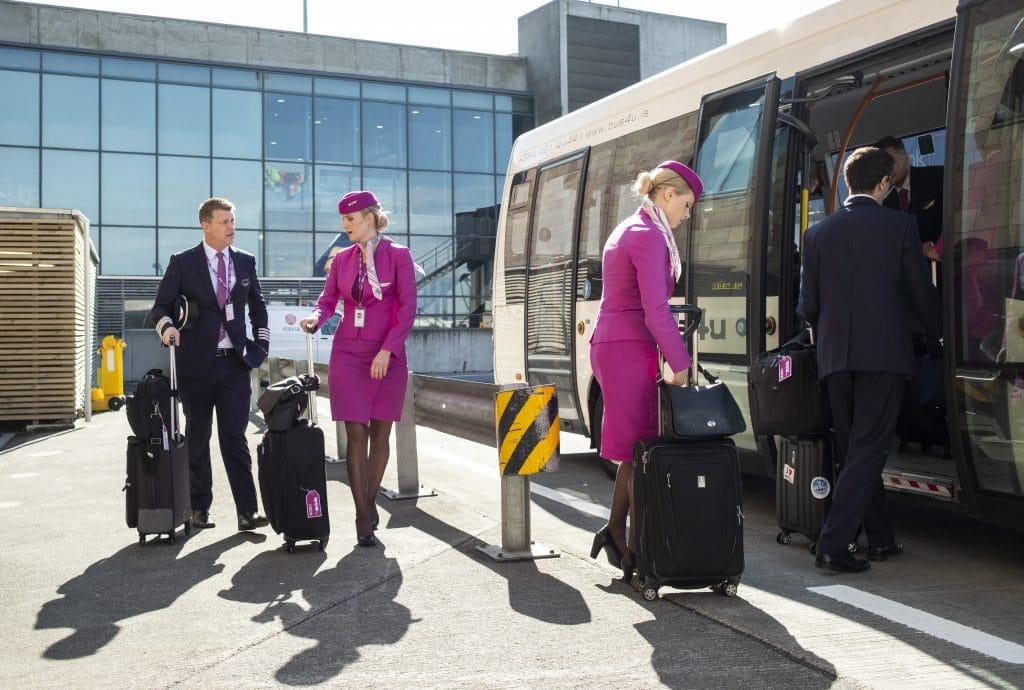 Flight attendants WOW air Icelandair