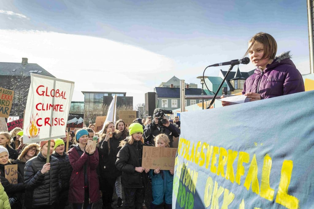 global youth climate change strike Skólaverkfall fyrir loftslagið