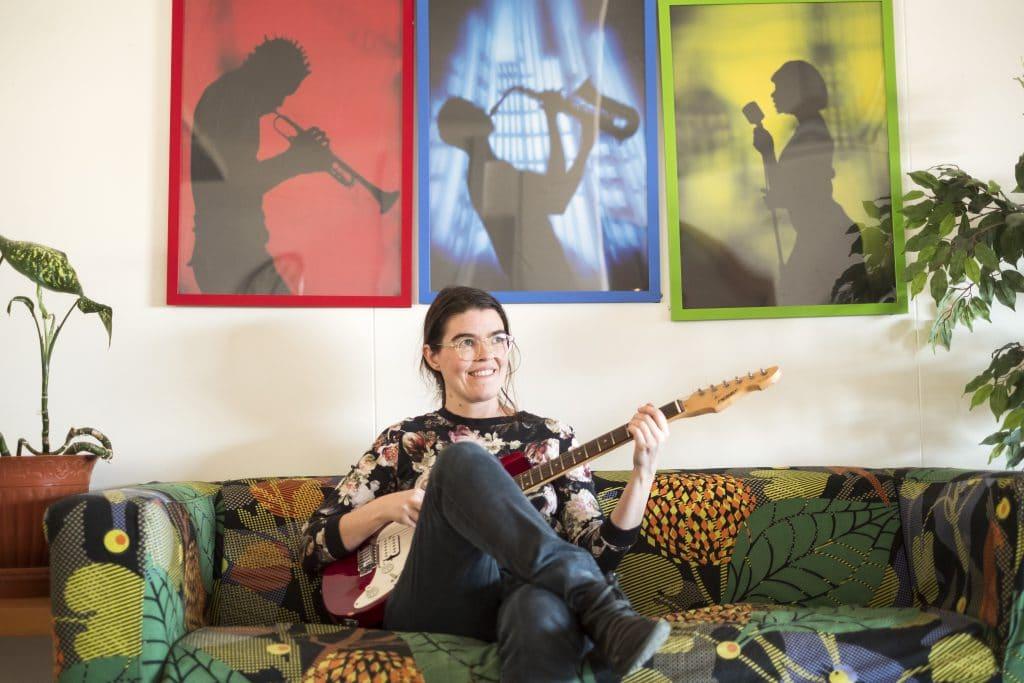 Guitar teacher Hafdís Bjarnadóttir