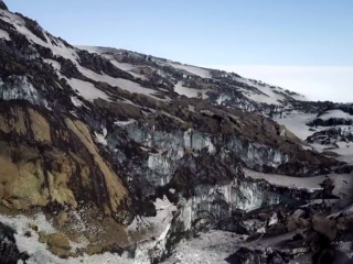 Geothermal Heat Exposes Glacial Cliffs