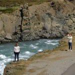 Goðafoss tourists Iceland