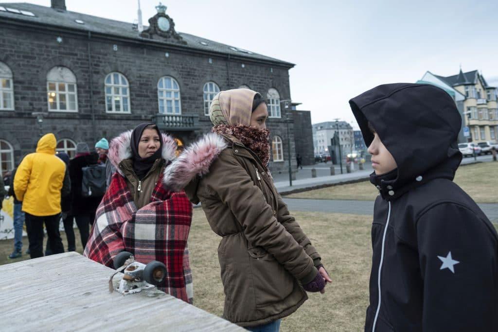 asylum seekers protest Reykjavík