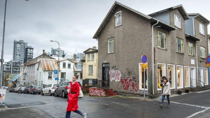 The corner of Laugavegur and Vitastígur