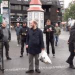 NRM neo-Nazis in Lækjartorg Reykjavík