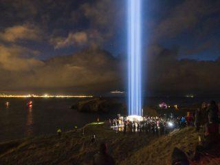 Imagine Peace Tower Illuminated Tonight