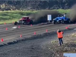 Icelander Breaks World Record in Sand Drag