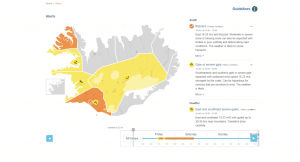 The Icelandic Met Office issues yellow weather alert