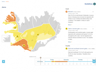 Yellow Weather Alert Issued for Greater Reykjavík Area Today