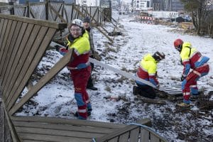 Search and Rescue volunteers deal with storm damages