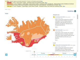 Red Weather Alert Issued for South Iceland Tomorrow