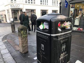 Garbage Cans Overflow in Reykjavík